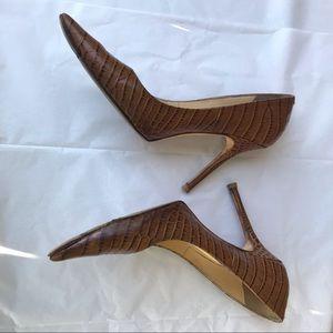 Jimmy Choo Snakeskin Embossed Heels SZ US8.5 -38.5